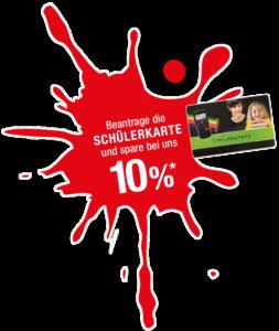 10% sparen mit der Schülerkarte