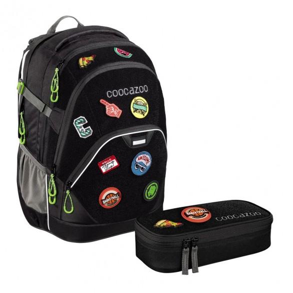 stabile Qualität bezahlbarer Preis neueste coocazoo Schulrucksack EvverClevver2 Patchy Black Limited Edition 2er Set