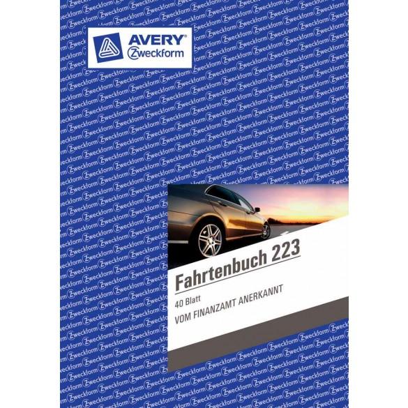 Avery Zweckform 223 Fahrtenbuch Din A5 Weiß