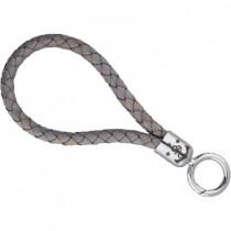 17;30 Schlüsselband Maat S 6 x 17 cm (B x L) Leder grau meliert