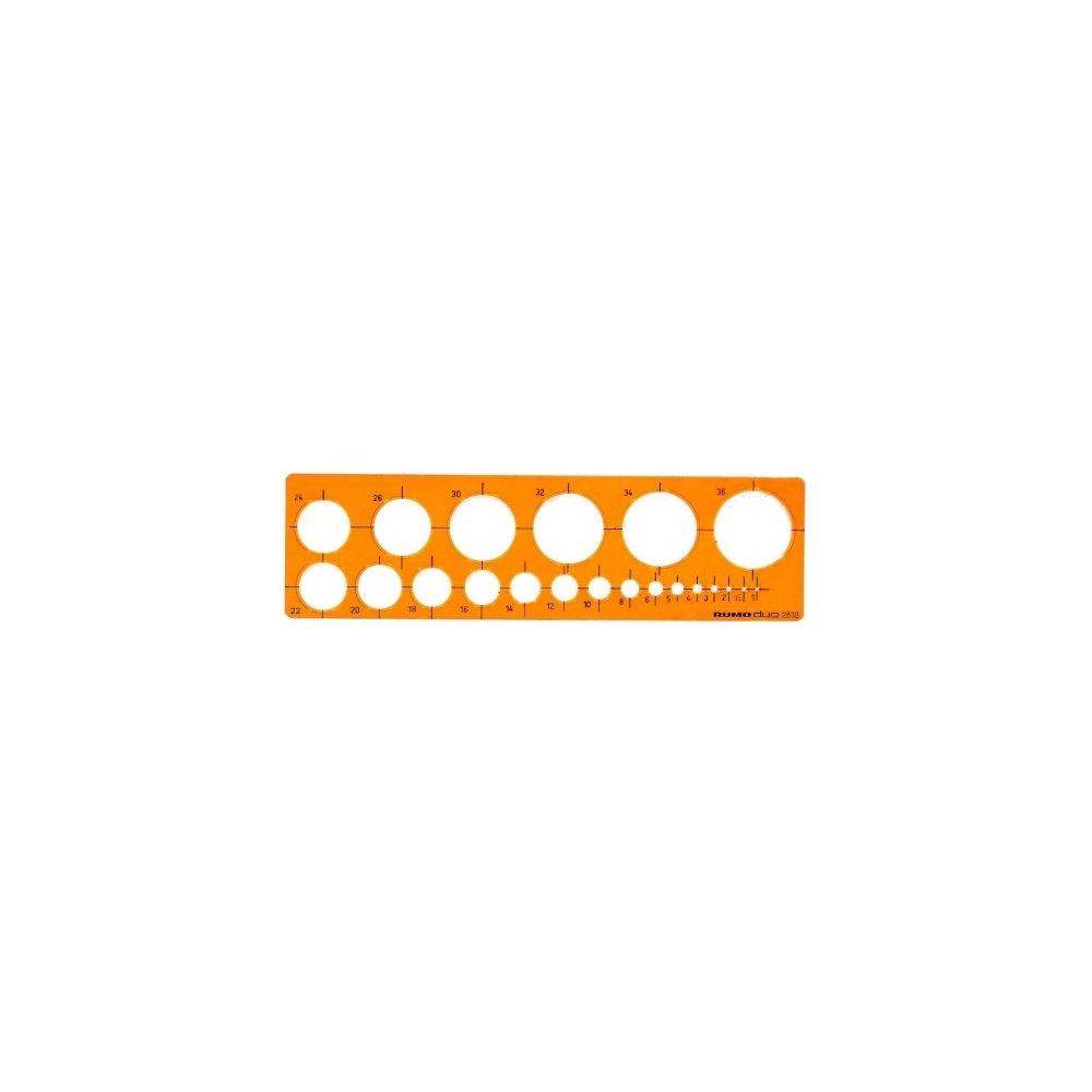 Rumold Kreisschablone 2812 245 x 65 x 2 mm - PapierFischer Shop