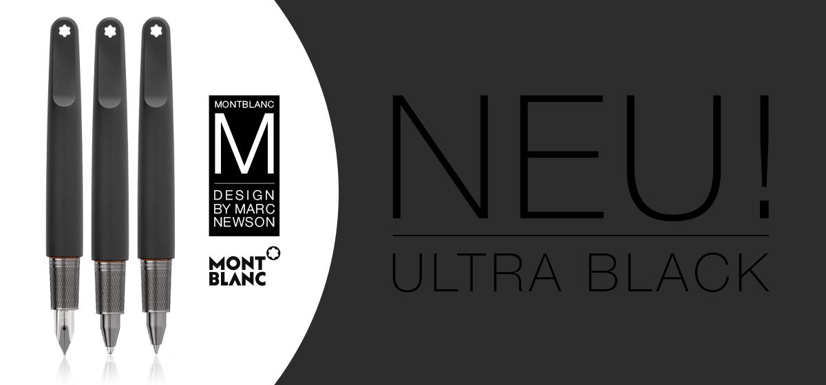 Montblanc M Ultra Black - Füller, Rollerball, Kugelschreiber