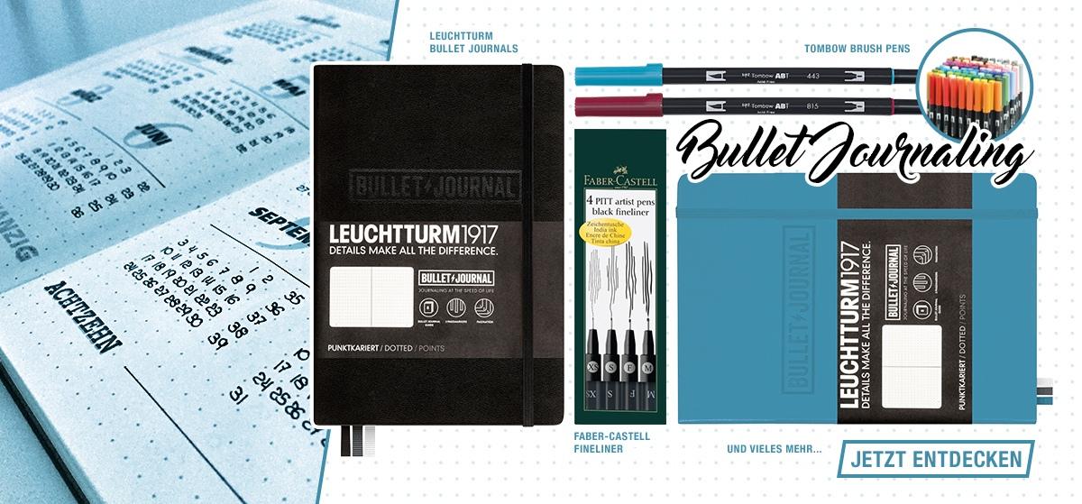 Bullet Journaling -Notizbücher, Stifte, Schablonen, Dotted