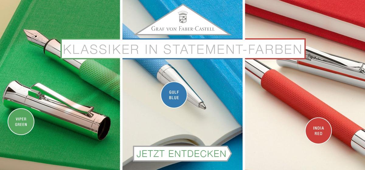Graf von Faber-Castell Statement Farben der Guilloche Kollektion