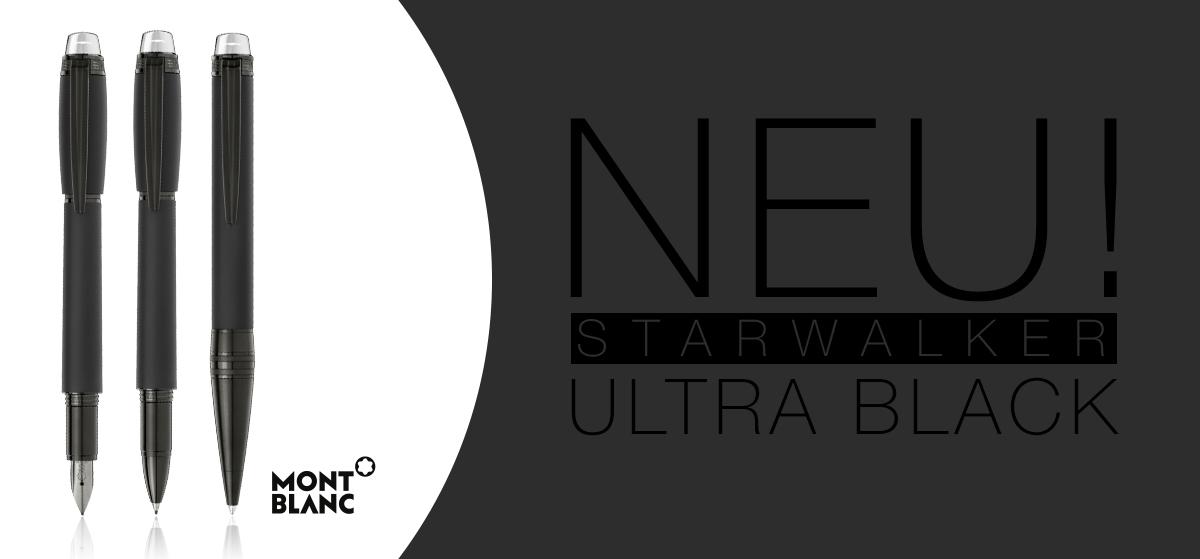 Montblanc StarWalker Ultra Black - Füller, Rollerball, Kugelschreiber