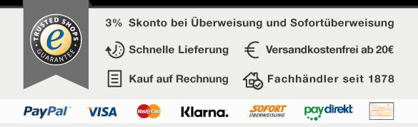 PapierFischer online Shop USP Übersicht