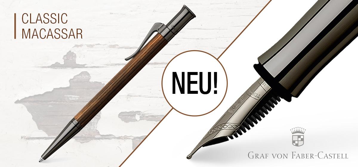 Macassar Kugelschreiber und Füller von Graf von Faber-Castell